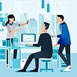 people-in-office-with-their-activities-discussing-working-with-computer-with-office-interior-illustration_142963-128